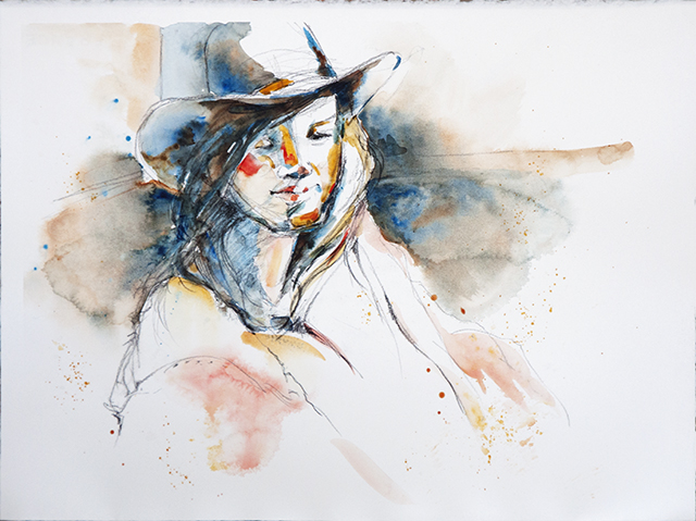 Glenys Christopher - Girl with Hat