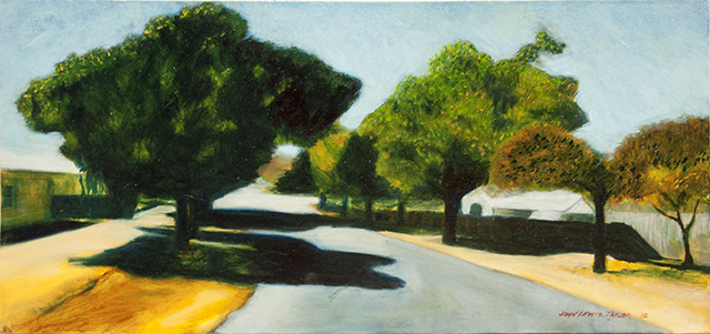John Taylor - Bridge Street West, Burra - Oil $200 SOLD