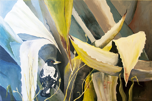 Mieke Danielse - Under the Leaves - Acrylic - $300