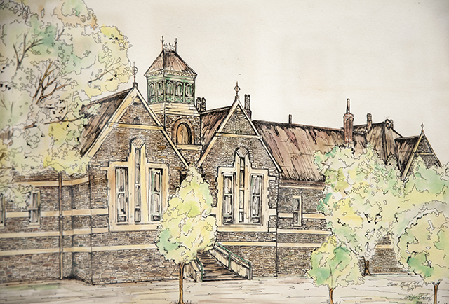 Roger Boehm - Burra Community School - Pen and Wash - NFS detail 640