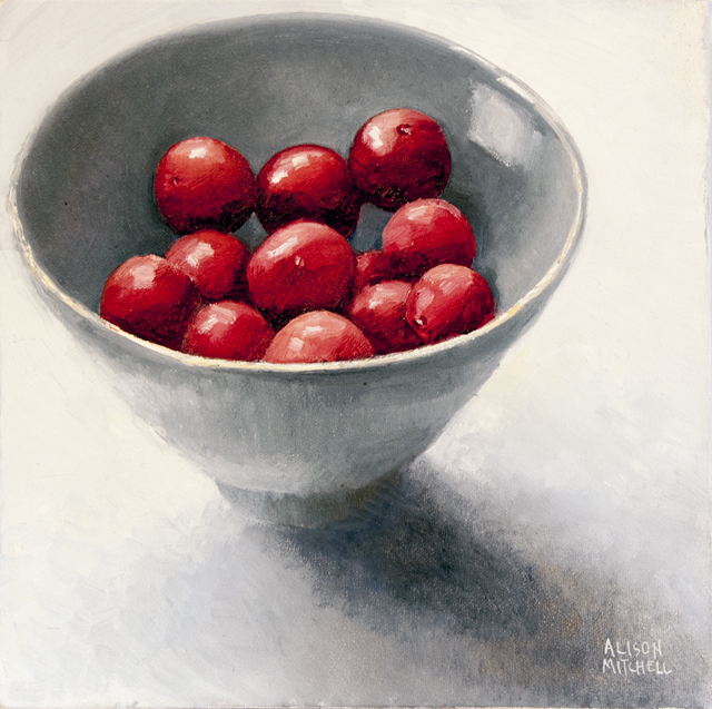 Alison Mitchell - Cherry Plums - Oil on Canvas - $800