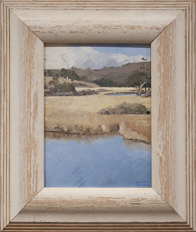 Alison Mitchell - Middle River, Kangaroo Island - Oil on Canvas - $1500