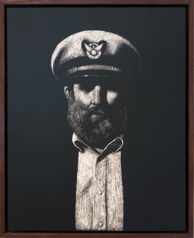 Michael Hocking - Joel Thayer as a Sea Captain - Scratchboard - $300
