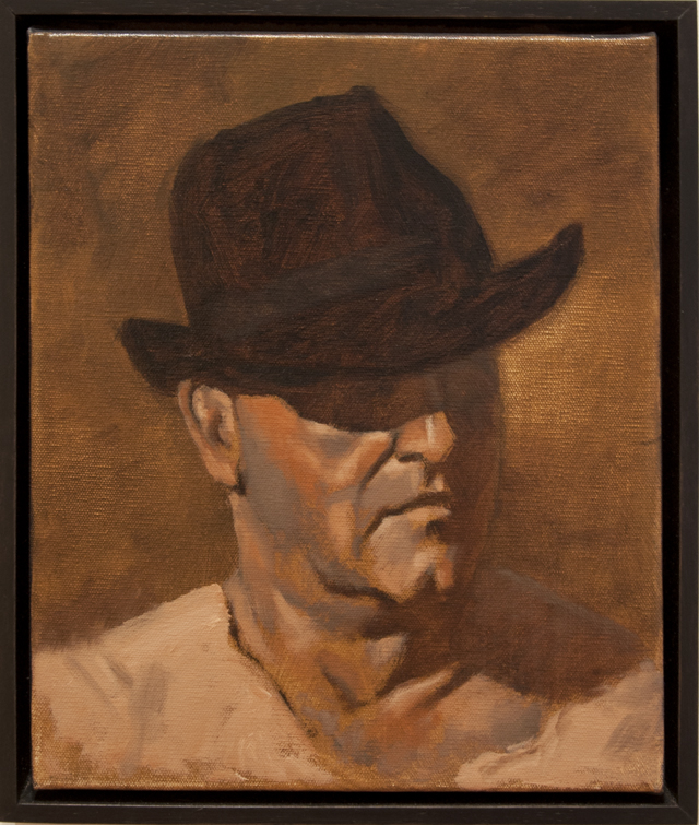 Michael Hocking - Ken Luca With a Black Hat - Oil on canvas - $220