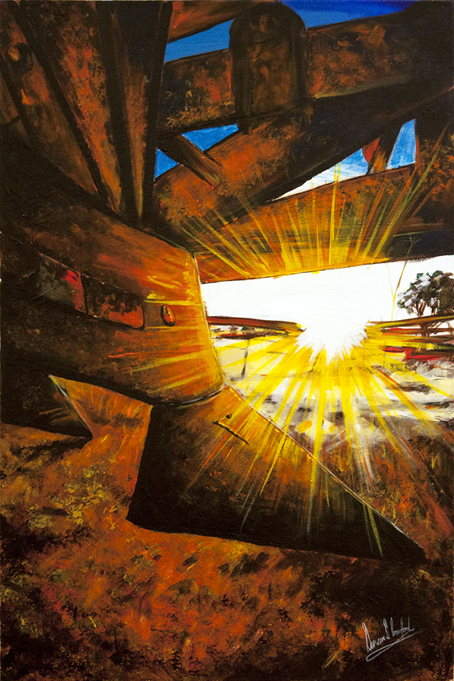 Duncan Crawford - Plough Rays - Acrylic on Canvas