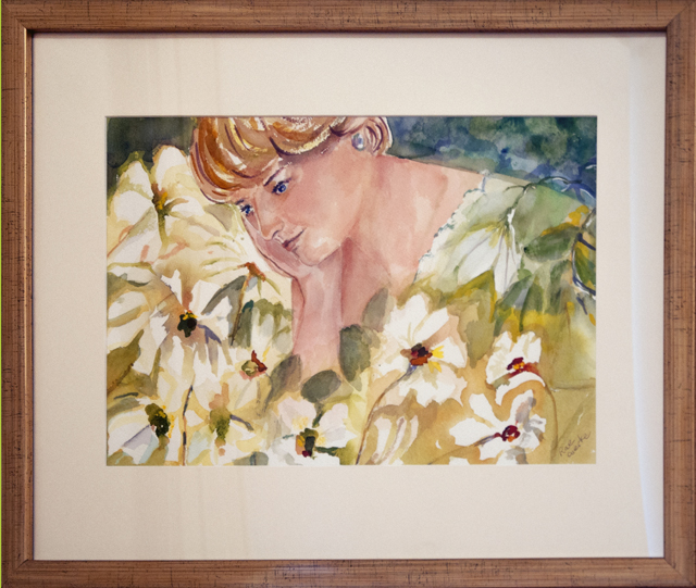 Rae Gierke - Contemplation - Watercolour - $200