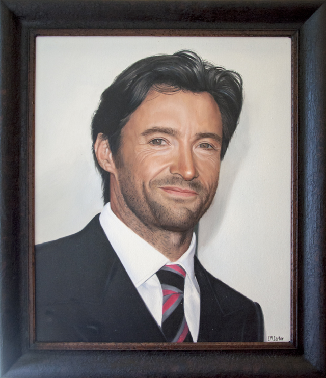 Sam Carter - Hugh Jackman - Awards Night - Oil on canvas - $535