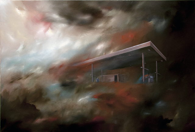 Simon C Smith - Lost Highway - Oil on Canvas - $1500