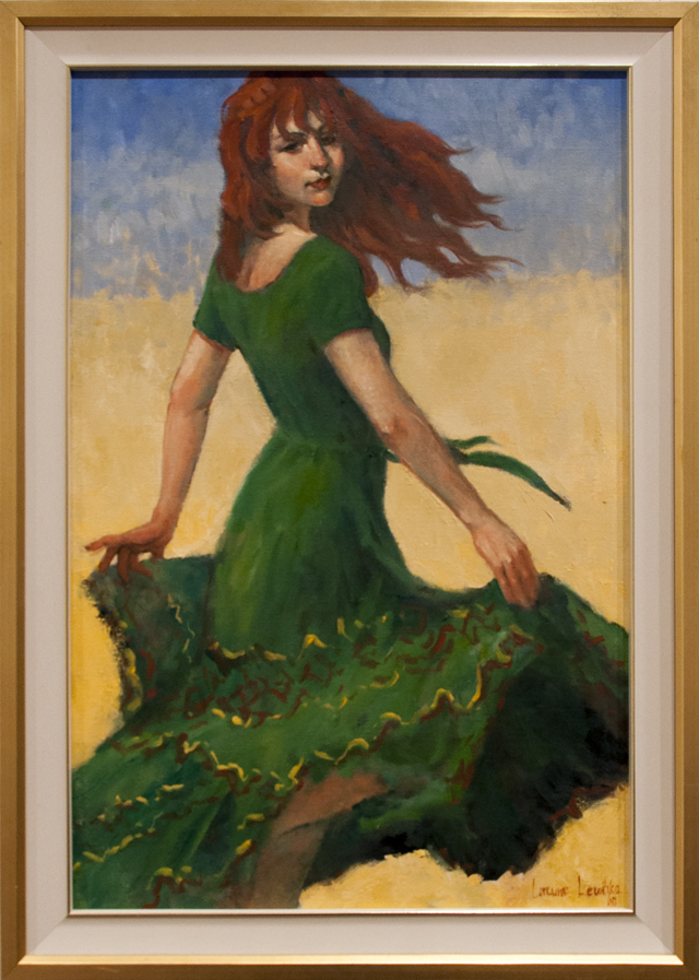 Lorraine Lewitzka - Dancer in the Green - Oil - $1800