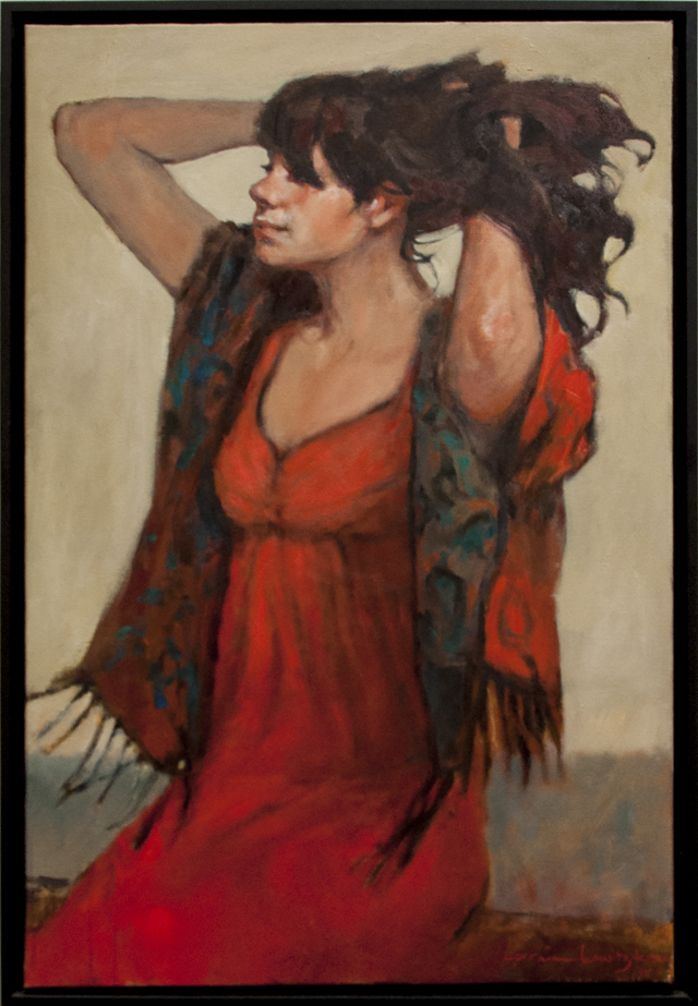 Lorraine Lewitzka - Red Dress - Oil - $2000