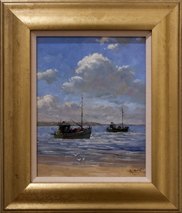 Terry Lewitzka - Fishing Boats at Anchor - Oil - $600