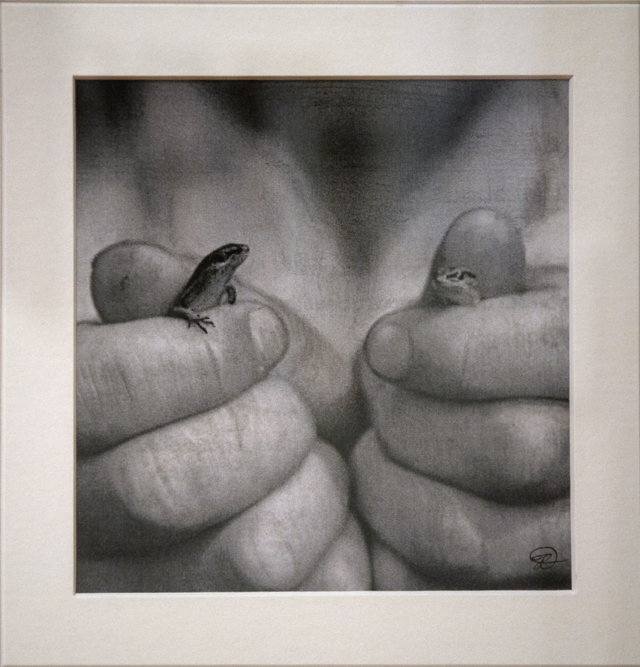 Heike Dargusch - It's in our Hands - Graphite Pencil - $280