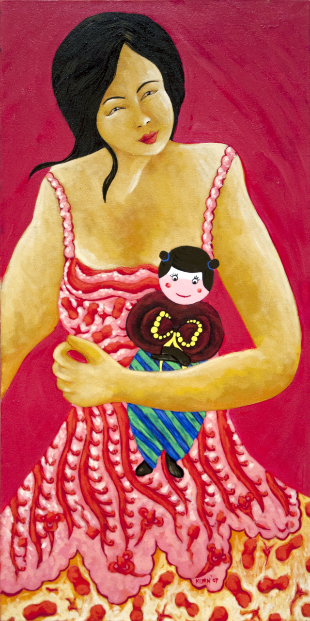 Ni Andika - Love - Acrylic on canvas 80 x 40 cm - $175