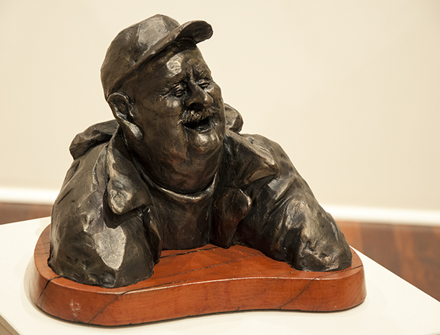 Gerhard Ritter - Laugh and the World laughs with you - terracotta - $1400