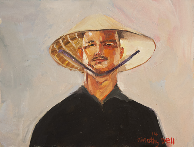 Tim Dell - Self Portrait #1 - Oil on Canvas - $1100