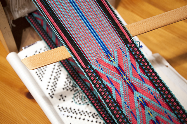 Katharina Urban weaving in progress 640