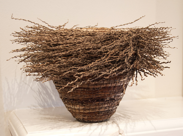 Laima Guscia - In a Spin - Palm fruit stalks and mixed natural fibres - $120 copy