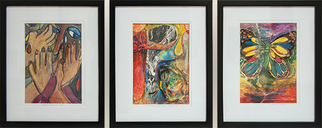 Adrienne Matthews - Transformation - Mixed Media - tryptich $90
