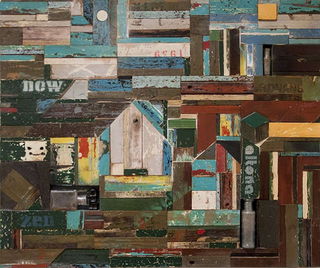 Peter Hart - Then - Found & Salvaged objects - $450