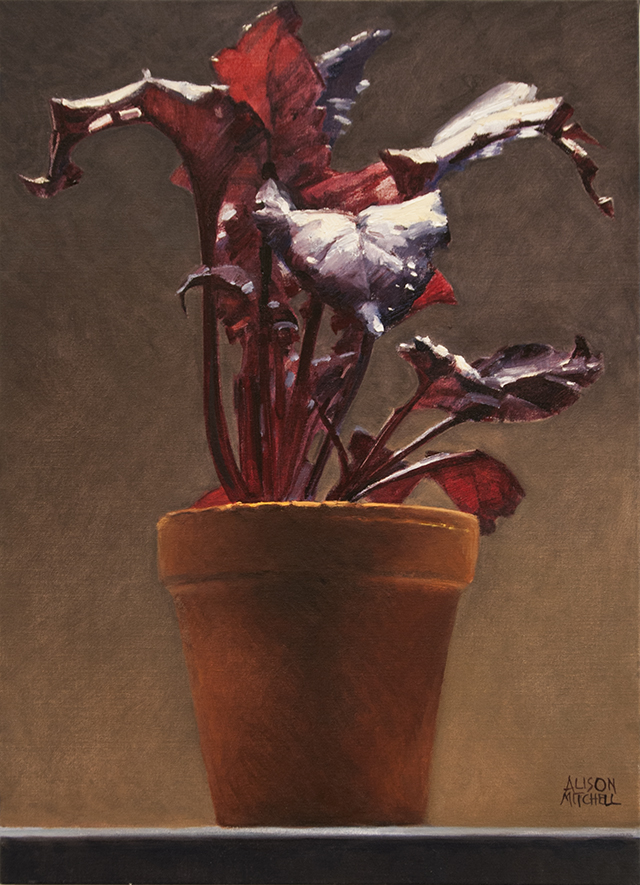 Alison Mitchell - Bull's Blood - Seedling - Oil on canvas - $2800