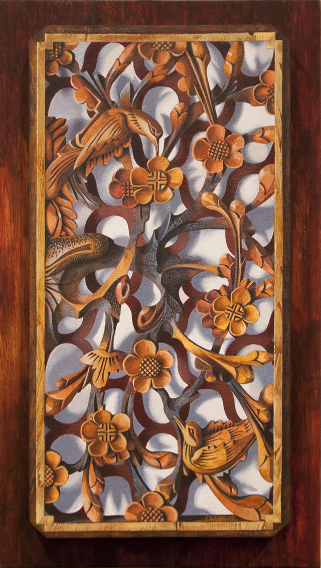 Janet Eason - Happiness Arrives with Plum Blossom - Acrylic - $1600