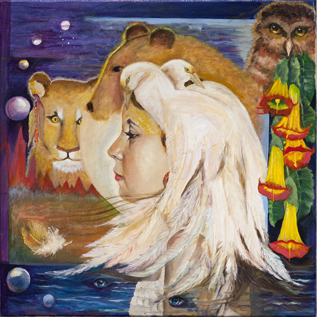 Julie Wilson - The Eyes of the Shaman - Oil - $1500