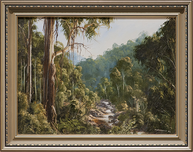Rob Wellington - Gully View - Oils - $595