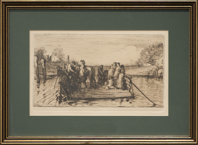 Unknown - The Punt - 1880 - Copper etching - $400