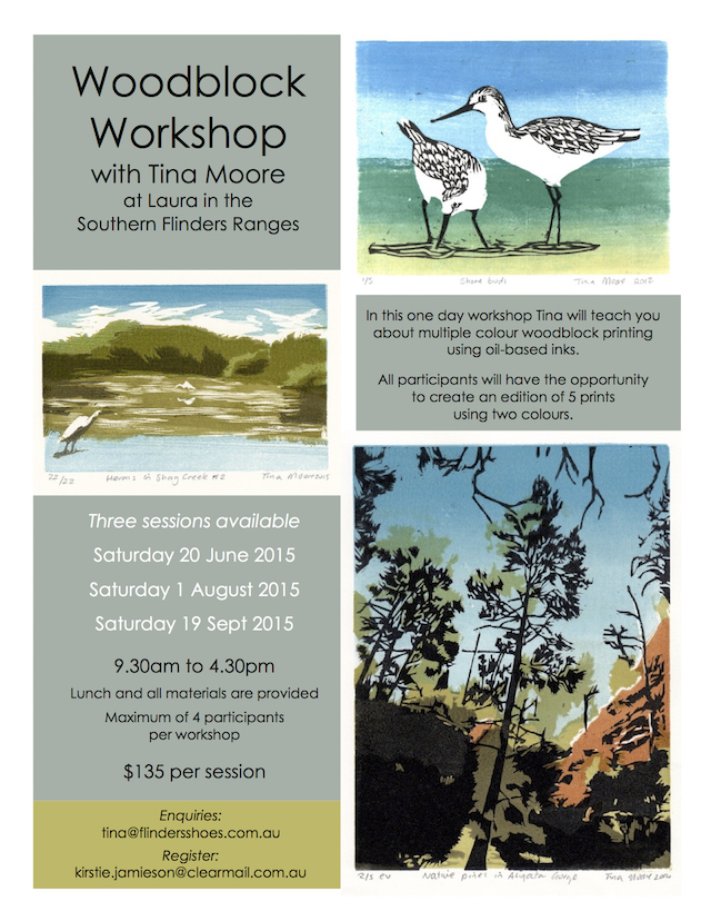 Woodcut workshop with Tina Moore