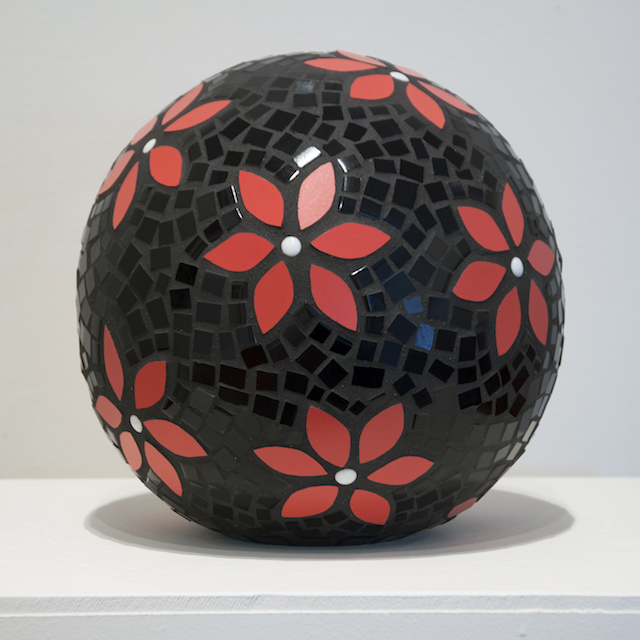 Wendy Amey - Red Garden Ball - Mosaic - $90 SOLD